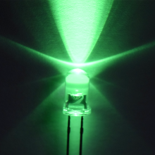 Verde 5 mm a través del agujero LED lente clara Epistar Chip