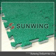 Revestimiento de piso de hierba que se enclavija artificial desmontable