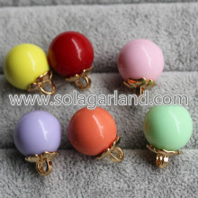 16MM Acrylic Plastic Round Beads Ball Dangle Pendants