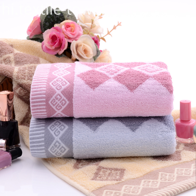 Towels with Diamond Shaped Jacquard