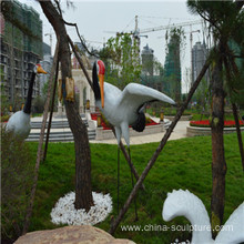 simulation fiberglass animal sculpture-bird