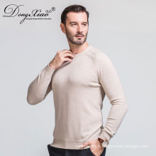 Vente chaude Oem Service Business Style Flat Kinitted Pullover 100% pull en cachemire pour les hommes