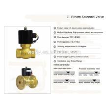 1/2 ~ 2 polegadas alta temperatura 220v / 24v válvula de solenóide de latão de vapor 1.6MPa
