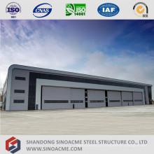 Hangar de estrutura de aço de grande extensão para manutenção de aviões