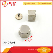 High quality handbags hardware thick rivets for bag parts