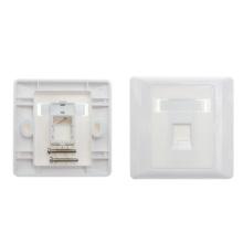 White single port network faceplate