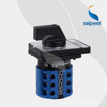 2014 saip / saipwell tipos de cambio sobre interruptor, selector giratorio, mini interruptor giratorio con alta calidad