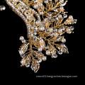 2019 new Fancy wedding  Bridal Crystal Gold Leaf pearl hair clip for hair