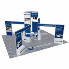 Detian Offer 20x20ft Open exhibition stall fabrication used trade show booths