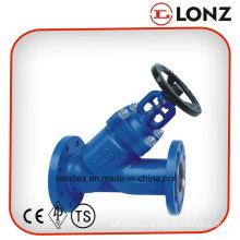 Cast Steel Wcb DIN Y Type Bellow Seal Globe Valve