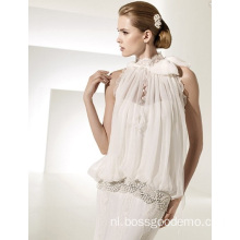 Elegante Rise Cathedral Train Lace Chiffon trouwjurk