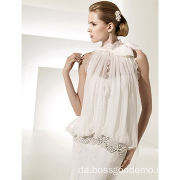 Elegant Rise Cathedral Train Blonder Chiffon Brudekjole