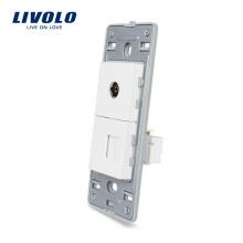 Livolo US 110 В 220 В Телефон RJ11 И ТВ Розетка Розетка VL-C5-1TV-11