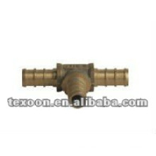 copper pipe reducing tees fitting pex barbed TX04100 Series with CSA Lead free