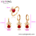 62564 Xuping new design gold kids jewelry copper cute design baby three pieces set