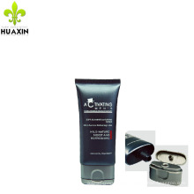 super oval shape man facial cleanser tube with spuer oval flip cap