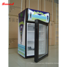Small LED Light Portable Refrigerated Beer Beverage Display Cooler Showcase with Compressor and Locks