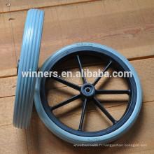 315X42mm solide en plastique PU roue avant du fauteuil roulant