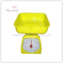 Échelle de cuisine mécanique en plastique de vente chaude de 3kg (12.5 * 12.5 * 16cm)