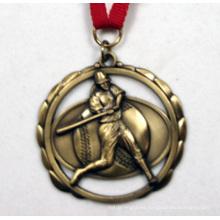 Medalla de oro antiguo de la galjanoplastia del oro 3D con las salidas del corte de Multipal - Neckband incluido / al por mayor