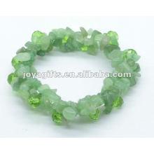 Pulseira de Pedra Verde Aventurine 2Line Chip