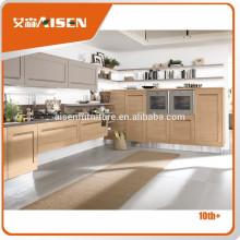 En tiempo de entrega de fábrica directamente agitador armarios de estilo de arce de cocina