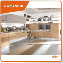 On-time delivery factory directly shaker style maple kitchen cabinets