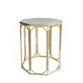 table de chevet en marbre de sexangle petite table d'appoint
