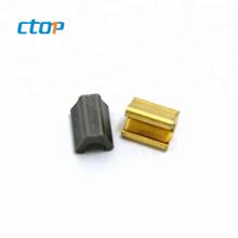 Factory wholesale high quality hardware accessories designer size metal zipper sliders zipper insertion pin zipper top stops
