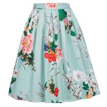 Grace Karin Retro Vintage 1950s Pleated Cotton Print Skirt CL6294-22