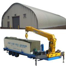 SANXING K Qspan SUBM240 SX-914-610  arch roof steel sheet car park/yard roof making machine vertical type roof building machine