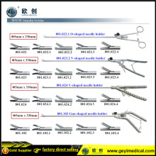 High Quality Reusable Surgical Laparoscopic Needle Holder Forceps