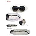 2015 Fashionable Ladies Plastic Sunglasses with Metal Decoration (WSP412415)