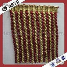 Großhandel dekorative Bullion Loop Rayon Fringe für Vorhang Zubehör, Match Drapery Stoff Dekorative Vorhang Fringe