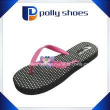 American Flip Flop Thong Sandals Black White Bow Charm