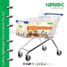 Supermarkt funky Falten leichte Einkaufstrolley mit Münzschlössern
