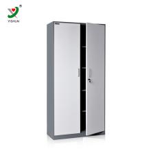 cheap swing two door steel cupboard cabinet with shelves