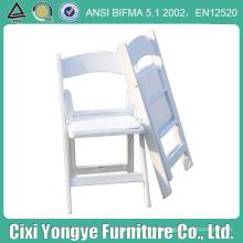 Cadeira dobrável de resina branca empilhável para banquetes