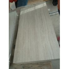 wooden white marble tiles