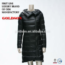 Women Light Weight Goose Down Parka With Shiny Fabric