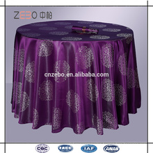 High Grade Jacquard Fabric Custom Color Restaurant Table Clothes in Guangzhou