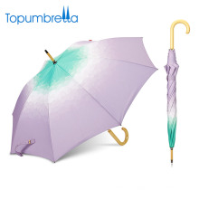 umbrella manufacturer china Gradient custom fancy wooden handle umbrella
