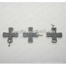 01P1007S / cross forma pingente / cross charme / cross montagem / cruz forma acessório com prata encontrar