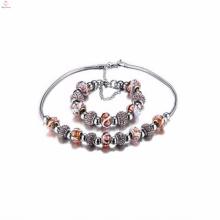 Personnalisé Pas Cher Chine Usine En Acier Inoxydable Bracelets De Charme Colliers Ensembles de Bijoux