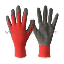 13G Red Polyester Grau Latex Palm Coating Arbeitshandschuhe