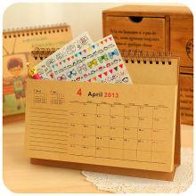 Calendario de escritorio de calendario de tabla de nuevo diseño 2015