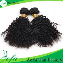 Aofa Kinky Curly Virgin Remy Hair Brazilian Human Hair Extension