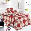 Draps de lit tissés imprimés par pigments unis à carreaux de polyester
