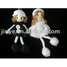 poupée de jouet de mode main marionnette en bois