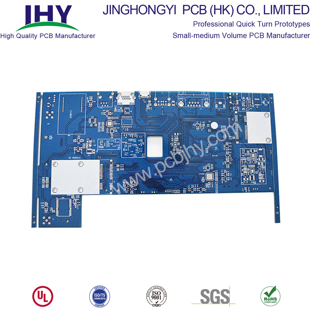 Blue HASL LF 1oz 1.6mm 4 Layer Rigid PCB